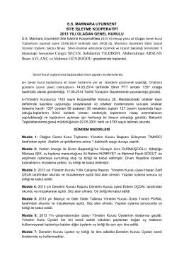 Müdürlüğü Temsilcileri Cengiz SEÇEN, Sebahattin YILDIRIM