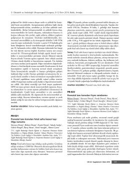 PB-021 Prenatal tan› konulan fetal safra kesesi tafl