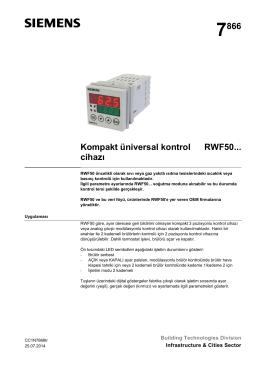 7866 Kompakt üniversal kontrol cihazı RWF50
