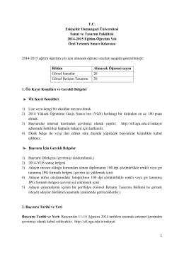 T.C. Eskişehir Osmangazi Üniversitesi Sanat ve Tasarım Fakültesi