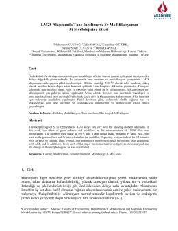 LM28 Alaşımında Tane İnceltme ve Sr Modifikasyonun Si