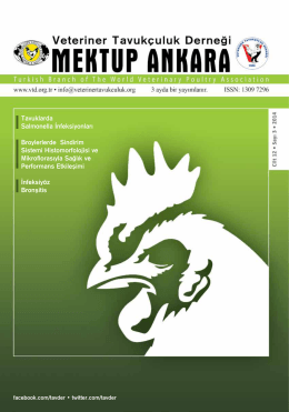 Mektup Ankara 2014-3 - Veteriner Tavukçuluk Derneği