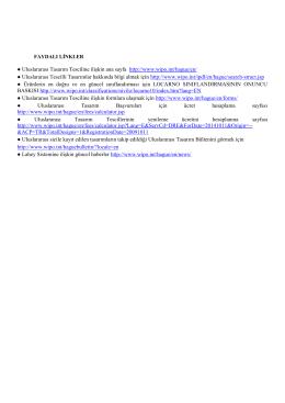 Uluslararası Tasarım Tesciline ilişkin ana sayfa http://www.wipo.int