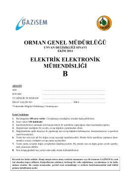 Elektrik Elektronik Mühendisliği B