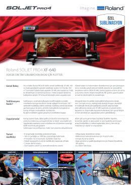 XF-640 Broşür - OTS Dijital Baskı Çözümleri