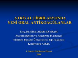 Nihal Akar Bayram - 4. atriyal fibrilasyon zirvesi 2015