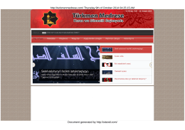 Türkmen Medrese | Kuran we Sünnetiñ Saıasynda