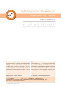 Familial Mediterranean Fever Related Spondyloarthritis Ailesel