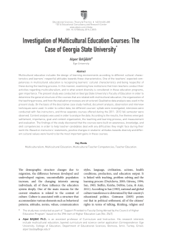Investigation of Multicultural Education Courses: The Case