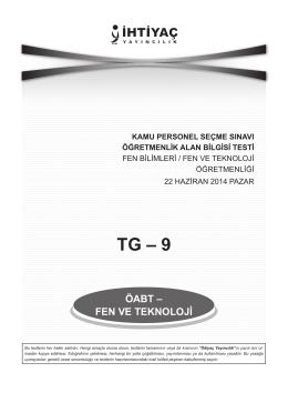 Fen ve Teknoloji 9 - İhtiyaç Yayıncılık