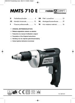 MMTS 710 E - Meister Werkzeuge