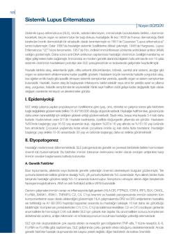 Sistemik Lupus Eritematozus - Romatoloji Bilim Dalı