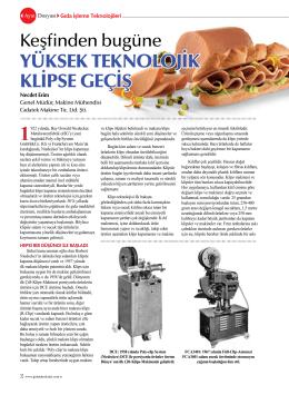 """""""Klips"""" in tarihçesi - gıdatek makine ticaret ltd. şti"""