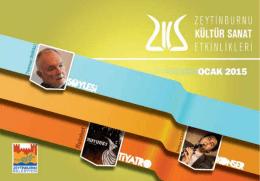 E-Dergi Ocak 2015 - Zeytinburnu Kültür Sanat