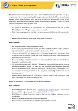 Başvuru Koşulları (PDF) - Ebiltem