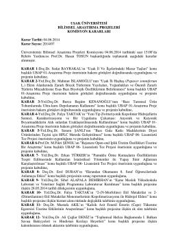 04.06.2014 Karar Sayısı: 2014/07 Ün