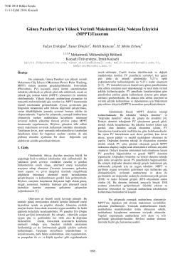 (MPPT)Tasarımı - Kocaeli Üniversitesi