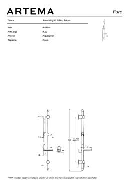 Tanım Pure Sürgülü El Duu Takımı Kod :A45544 Aırlık (kg) :1.52 Akı