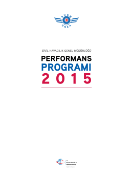2015 Performans Programı - Sivil Havacılık Genel Müdürlüğü