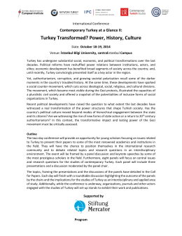 Turkey Transformed? Power, History, Culture