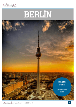 BERLİN - Gazella Turizm