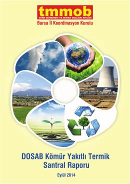 DOSAB Kömür Yakıtlı Termik Santrali Raporu için tıklayınız