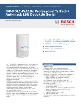 ISP‑PDL1‑WA18x Profesyonel TriTech+ Anti‑mask LSN Dedektör