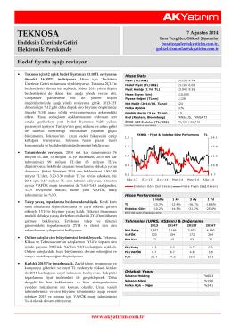 Ak Yatırım Teknosa Şirket Raporu