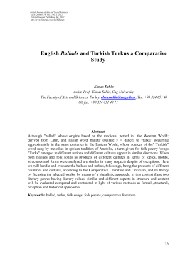 English Ballads and Turkish Turkus a Comparative Study