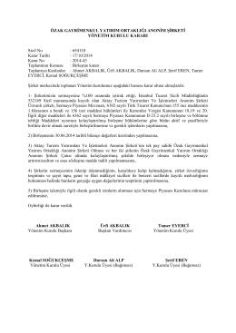 Özak GYO Yönetim Kurulu Kararı 17 10 2014