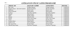 Animasyon Film Yapım
