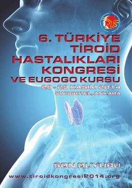 6. türkiye tiroid hastalıkları kongresi 6. türkiye tiroid hastalıkları