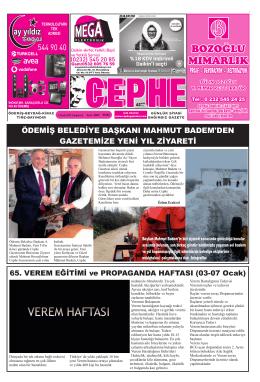 03.01.2015 Tarihli Cephe Gazetesi