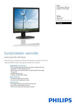 17S4LSB/00 Philips LCD monitör, LED arka aydınlatma, SmartImage