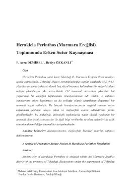 Herakleia Perinthos (Marmara Ere÷lisi)
