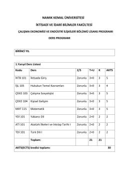 namık kemal üniversitesi iktisadi ve idari bilimler - E