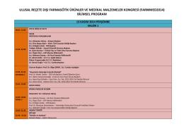 ulusal reçete dışı farmasötik ürünler ve medikal malzemeler kongresi