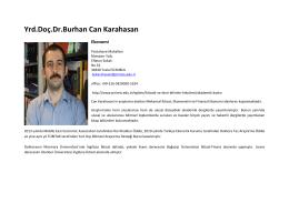 B. Can KARAHASAN - Piri Reis Üniversitesi