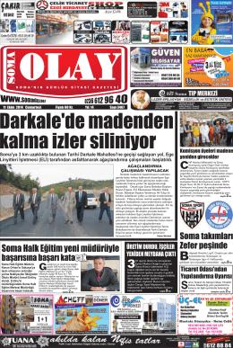 11 Ekim 2014 - Olay Gazetesi