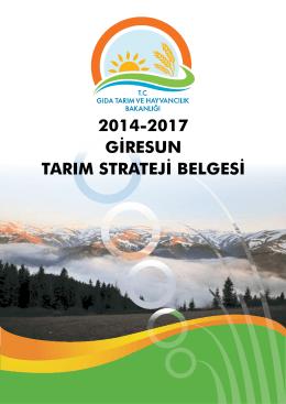 tarım strateji dergisi - Giresun İl Gıda Tarım ve Hayvancılık Müdürlüğü