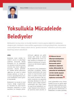 Yoksulluklar Mücadelede Belediyeler Mehmet DUMAN