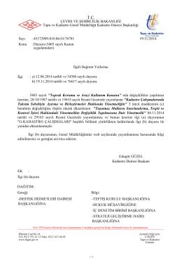 5403 Sayılı Kanun Uygulamaları - Tapu ve Kadastro Genel Müdürlüğü
