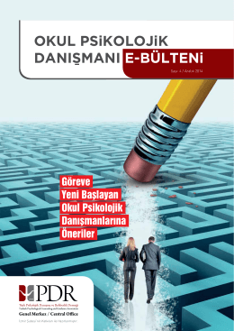 Görüntülemek için tıklayınız... - Türk Psikolojik Danışma ve Rehberlik