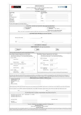 Talep Formu - İş Yatırım