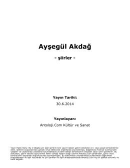 Ayşegül Akdağ - Antoloji.Com