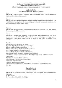 tc muğla büyükşehir belediye başkanlığı fen işleri