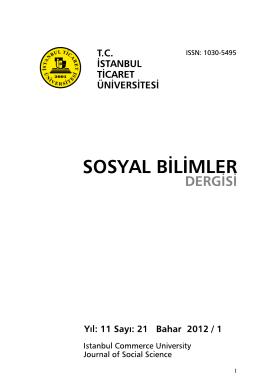 İçindekiler - İstanbul Ticaret Üniversitesi