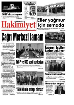 21 ocak.qxd - Çorum Hakimiyet Gazetesi