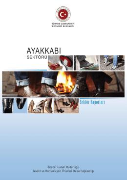 ayakkabı sektör raporu