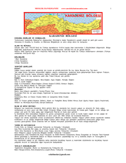 Türkiye Cağrafi Bölgeler KPSS Çalışma Notu